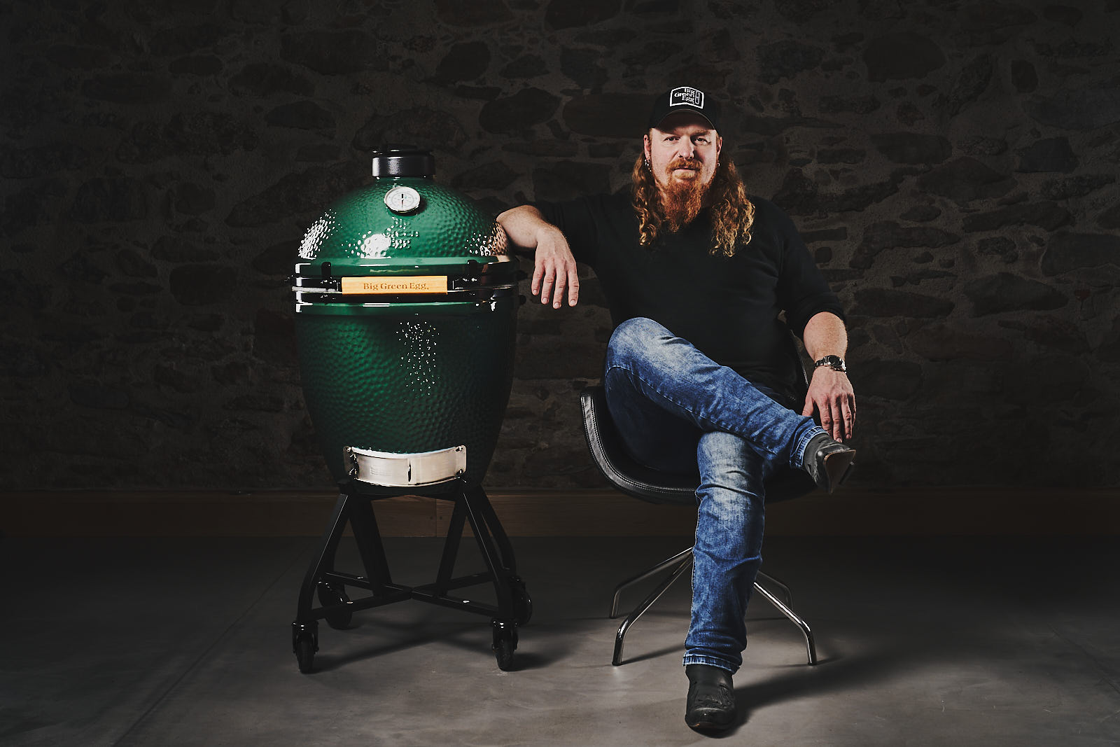Big green egg Werbefoto mit Ludwig Maurer