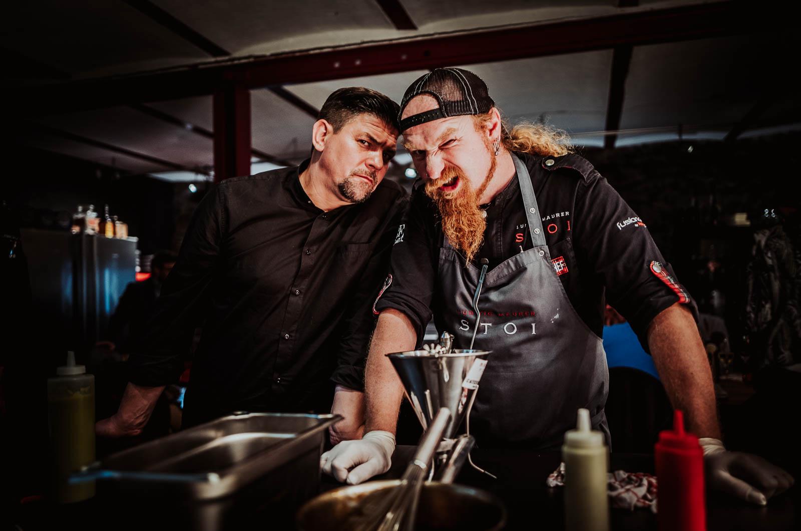Werbefoto Kitchen Impossible mit Tim Mälzer und Ludwig Maurer